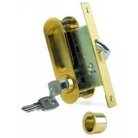 Фото -   Ручка, ARCHIE,  для раздвижной двери с замочным механизмом   | фото в интерьере
