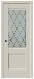 Фото -   Межкомнатная дверь 2U, магнолия сатинат   | фото в интерьере