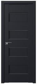 Фото -   Межкомнатная дверь 45U, черный матовый   | фото в интерьере