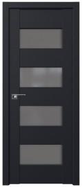 Фото -   Межкомнатная дверь 46U, черный матовый   | фото в интерьере