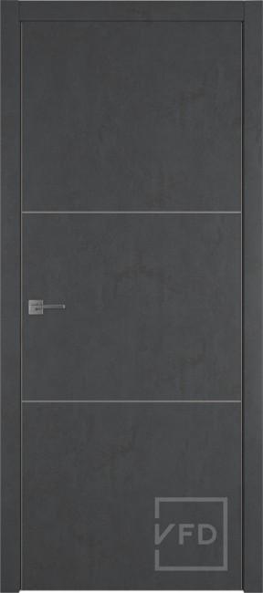 """Межкомнатная дверь """"URBAN 2"""", пг, JET LOFT (алюминиевый молдинг)"""