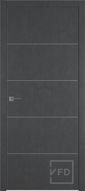 """Межкомнатная дверь """"URBAN 4"""", пг, JET LOFT (алюминиевый молдинг)"""