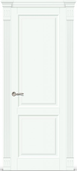 """Фото -   Межкомнатная дверь """"Венеция 1"""", пг, белая эмаль     фото в интерьере"""