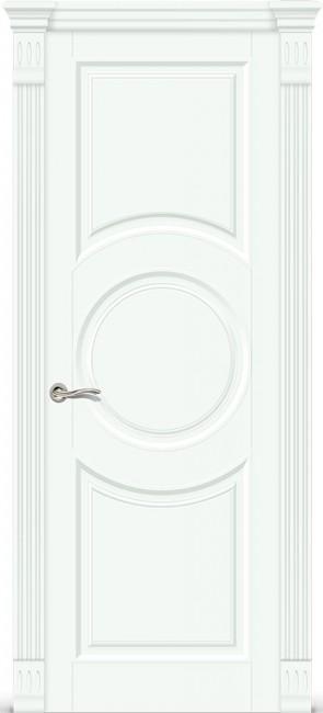 """Межкомнатная дверь """"Венеция 6"""", пг, белая эмаль"""