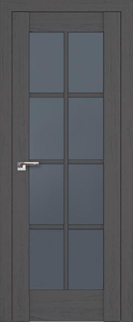 """Межкомнатная дверь """"101х"""", стекло графит, пекан темный"""