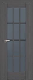 """Межкомнатная дверь """"102х"""", стекло графит, пекан темный"""