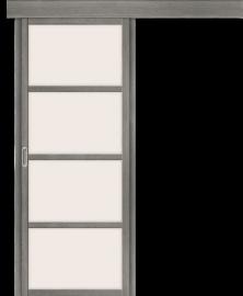 Фото -   Дверь-купе Твигги V4 Grey Veralinga   | фото в интерьере