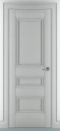 "Межкомнатная дверь ""Ампир В1"", пг, серый матовый"
