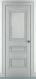 "Межкомнатная дверь ""Ампир В1"", по, серый матовый"