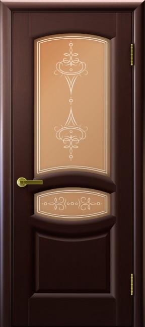 """Фото -   Межкомнатная дверь """"Анастасия"""", по, венге     фото в интерьере"""