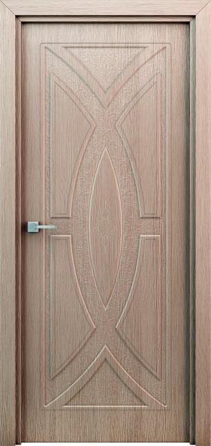 """Фото -   Межкомнатная дверь """"Арабеска"""", пг, миндаль     фото в интерьере"""