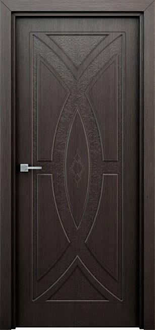 """Фото -   Межкомнатная дверь """"Арабеска"""", пг, венге     фото в интерьере"""