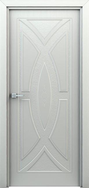 """Фото -   Межкомнатная дверь """"Арабеска"""", пг, белая     фото в интерьере"""