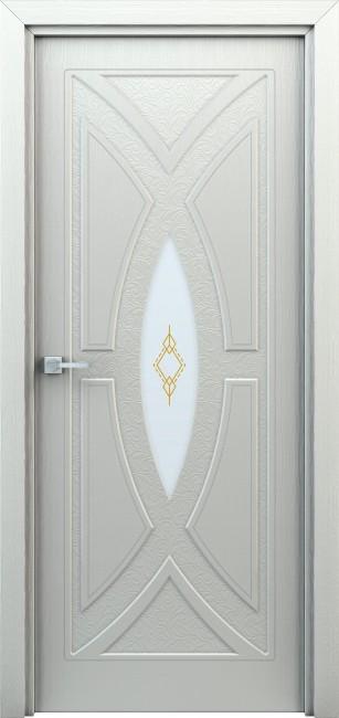 """Фото -   Межкомнатная дверь """"Арабеска"""", по, белый     фото в интерьере"""