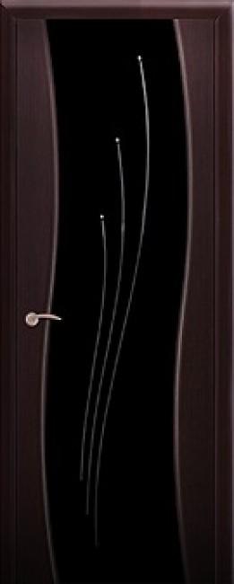 """Фото -   Межкомнатная дверь """"Лучи"""", со стразами, по, венге     фото в интерьере"""