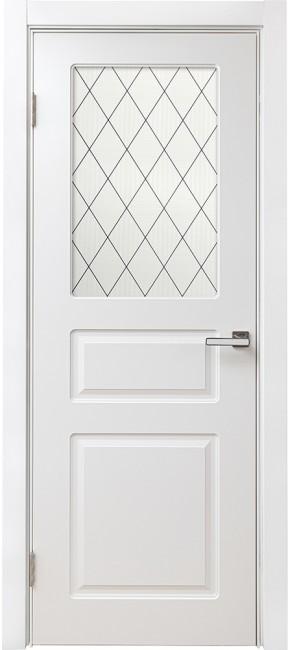 """Межкомнатная дверь """"Брикс 3Ф"""", по, белый"""