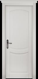Фото -   Межкомнатная дверь Бристоль, пг, белая эмаль   | фото в интерьере