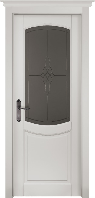 Фото -   Межкомнатная дверь Бристоль, по, белая эмаль     фото в интерьере