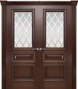 Фото -   Межкомнатная дверь Мильяна Бристоль Сити, по, итальянский орех     фото в интерьере