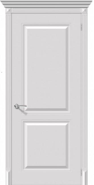 """Фото -   Межкомнатная дверь """"Бриз"""", пг, белый     фото в интерьере"""