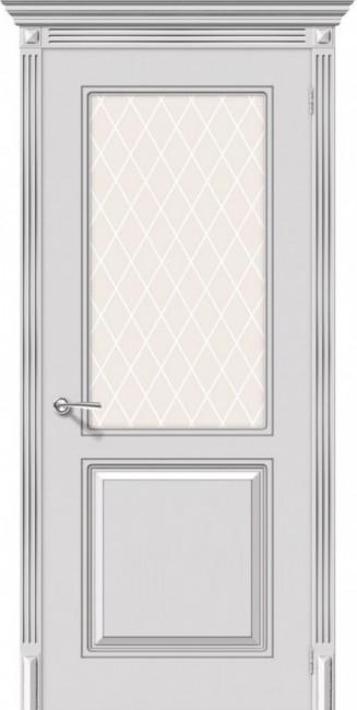 """Фото -   Межкомнатная дверь """"Бриз"""", по, белый     фото в интерьере"""
