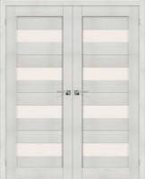 Фото -   Двойная распашная дверь Порта-23 Bianco Veralinga     фото в интерьере