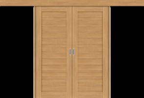 Фото -   Межкомнатная двойная дверь-купе Порта-21 Anegri Veralinga     фото в интерьере