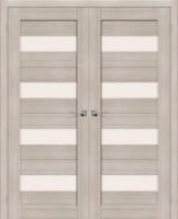 Фото -   Двойная распашная дверь Порта-23 Cappuccino Veralinga     фото в интерьере
