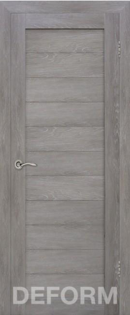 Фото -   Межкомнатная дверь Deform D10 дуб шале графит, ПГ   | фото в интерьере