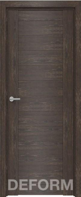 Фото -   Межкомнатная дверь Deform D10 дуб шале корица, ПГ   | фото в интерьере