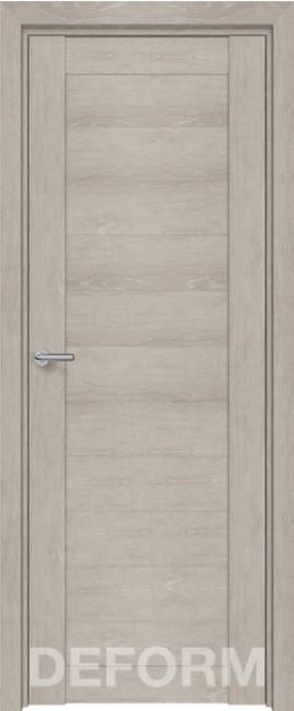 Фото -   Межкомнатная дверь Deform D10 дуб шале седой, ПГ   | фото в интерьере