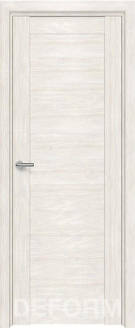 Фото -   Межкомнатная дверь Deform D10 дуб шале снежный, ПГ   | фото в интерьере