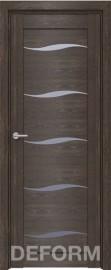 Фото -   Межкомнатная дверь Deform D1 дуб шале корица, стекло матовое   | фото в интерьере