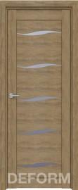 Фото -   Межкомнатная дверь Deform D1 дуб шале натуральный, стекло матовое     фото в интерьере