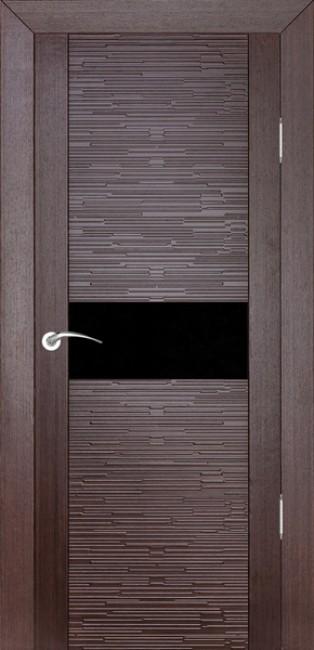 """Фото -   Межкомнатная дверь """"Д2 техно"""", по, венге     фото в интерьере"""