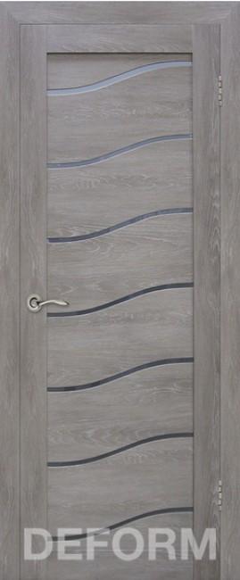 Фото -   Межкомнатная дверь Deform D2 дуб шале графит, стекло матовое   | фото в интерьере