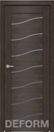 Фото -   Межкомнатная дверь Deform D2 дуб шале корица, стекло матовое   | фото в интерьере