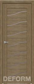 Фото -   Межкомнатная дверь Deform D2 дуб шале натуральный, стекло матовое   | фото в интерьере