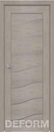 Фото -   Межкомнатная дверь Deform D2 дуб шале седой, стекло матовое   | фото в интерьере