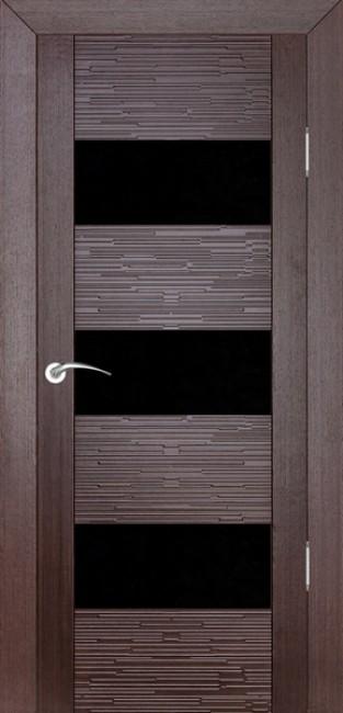 """Фото -   Межкомнатная дверь """"Д3 техно"""", по, венге     фото в интерьере"""