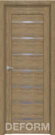 Фото -   Межкомнатная дверь Deform D3 дуб шале натуральный, стекло матовое   | фото в интерьере