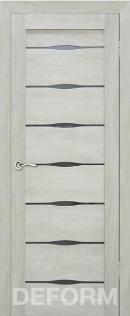 Фото -   Межкомнатная дверь Deform D3 дуб шале седой, стекло матовое   | фото в интерьере