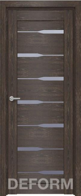 Фото -   Межкомнатная дверь Deform D4 дуб шале корица, стекло матовое   | фото в интерьере