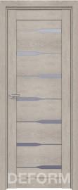 Фото -   Межкомнатная дверь Deform D4 дуб шале седой, стекло матовое   | фото в интерьере