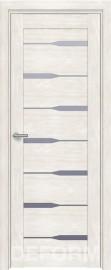 Фото -   Межкомнатная дверь Deform D4 дуб шале снежный, стекло матовое   | фото в интерьере