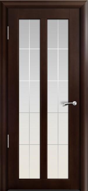 Фото -   Межкомнатная дверь Мильяна Дана, по, темный орех     фото в интерьере