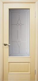 """Межкомнатная дверь """"Диана"""", по, беленный дуб"""