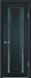 """Межкомнатная дверь """"Дуэт-2"""", по, венге шелк"""