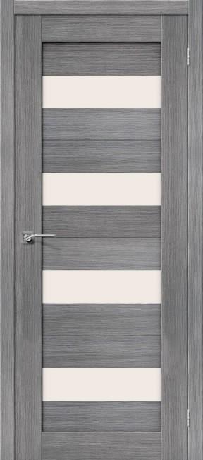 """Фото -   Межкомнатная дверь """"Порта-23"""", по, Grey Veralinga     фото в интерьере"""