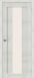 """Межкомнатная дверь """"Порта-25 alu"""", по, Bianco Veralinga"""